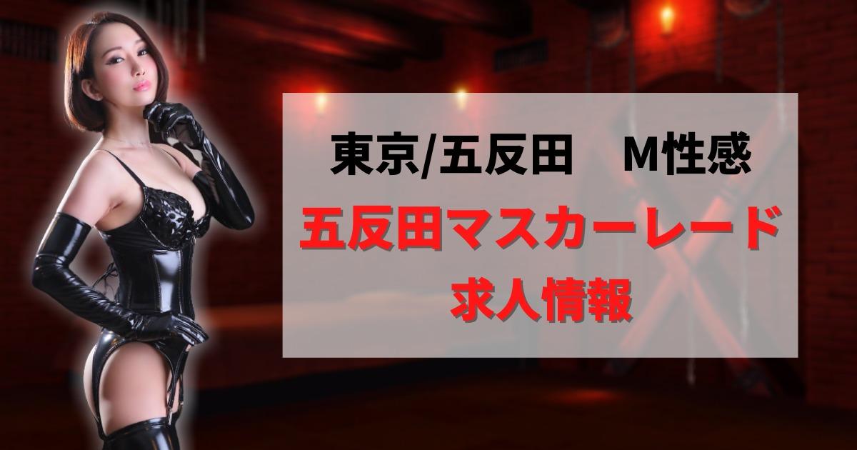 【東京】五反田マスカ―レードの風俗求人【SM・M性感】
