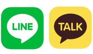 LINEとカカオトークのアプリアイコン
